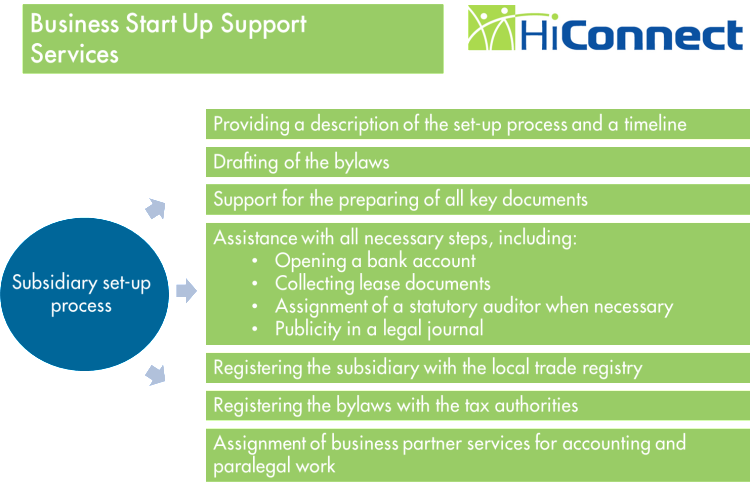 Business Subsidiary Startup Services-HiConnect